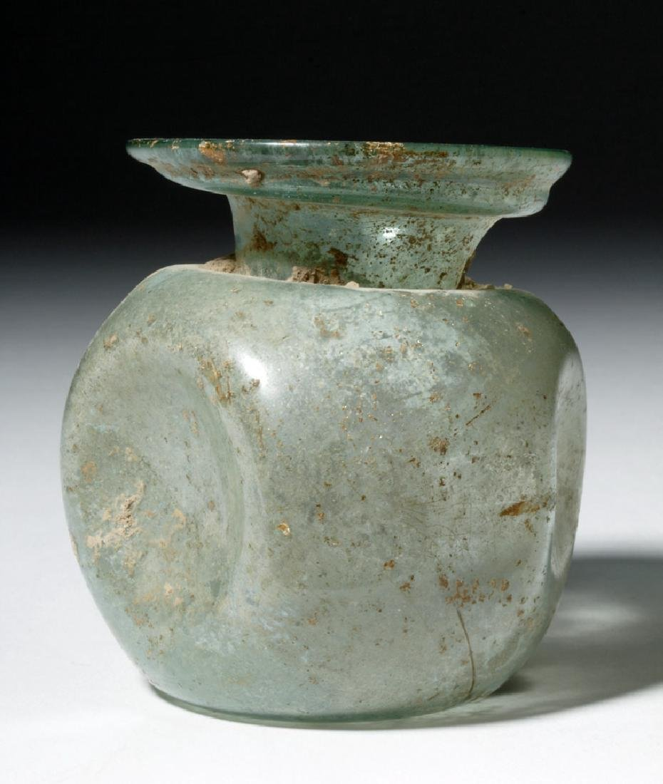 Roman Glass Vessel - Indented Sides - 4