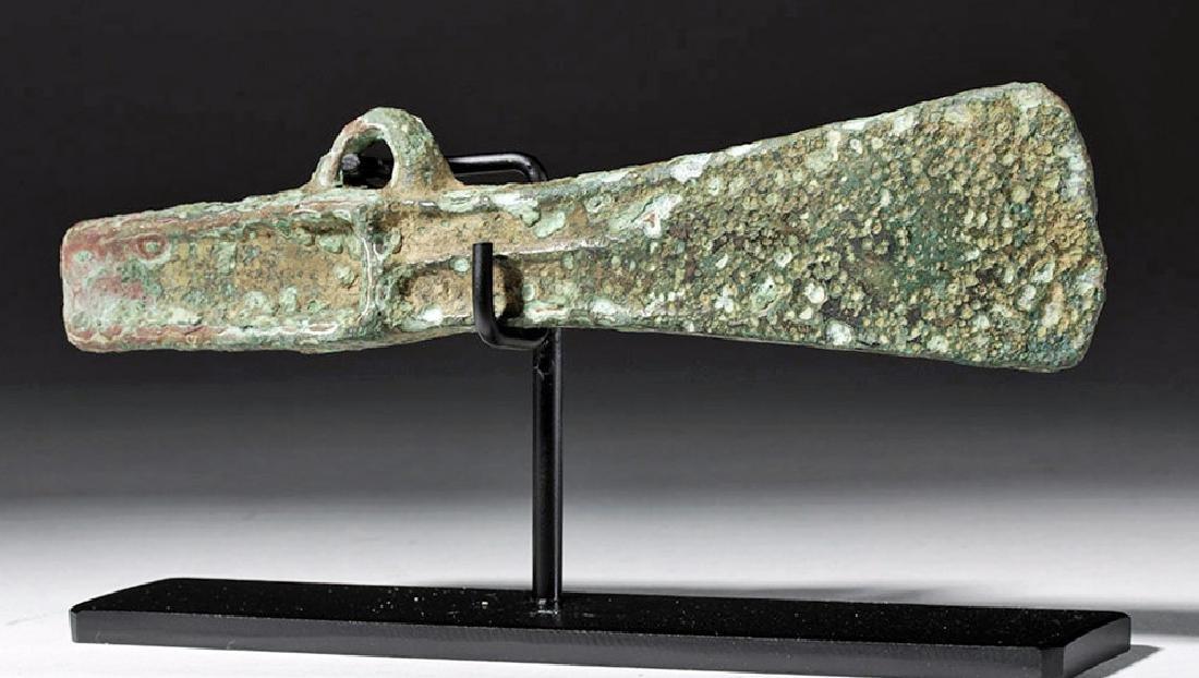 Ancient Celtic Bronze Axe Head