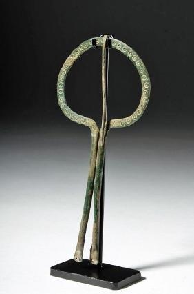 10th C. Viking Bronze Hairpiece