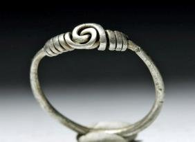 Delicate Viking Woman's Silver Ring