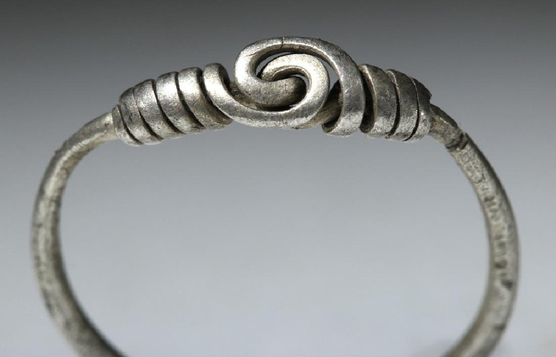 Delicate Viking Woman's Silver Ring - 5