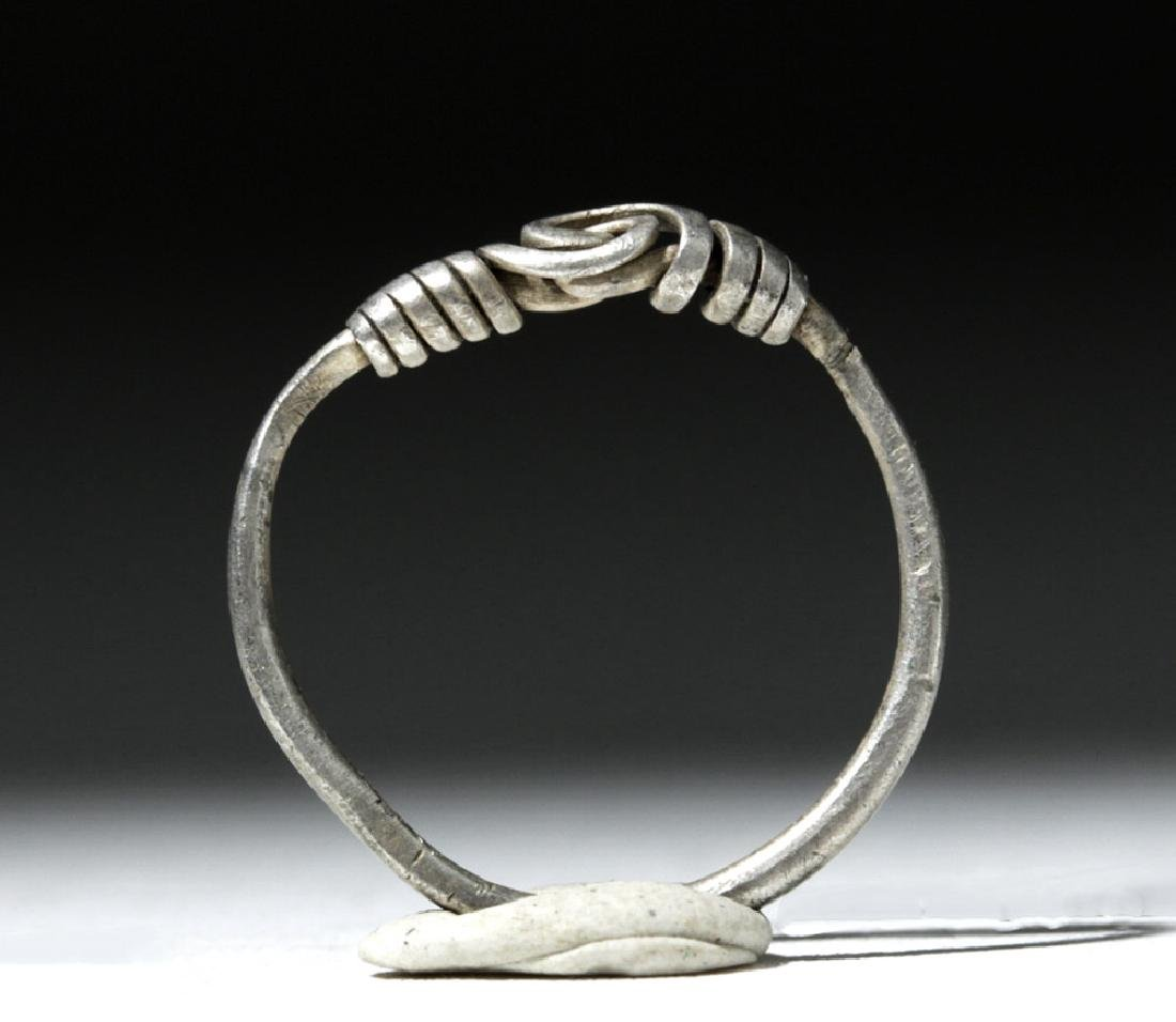 Delicate Viking Woman's Silver Ring - 6
