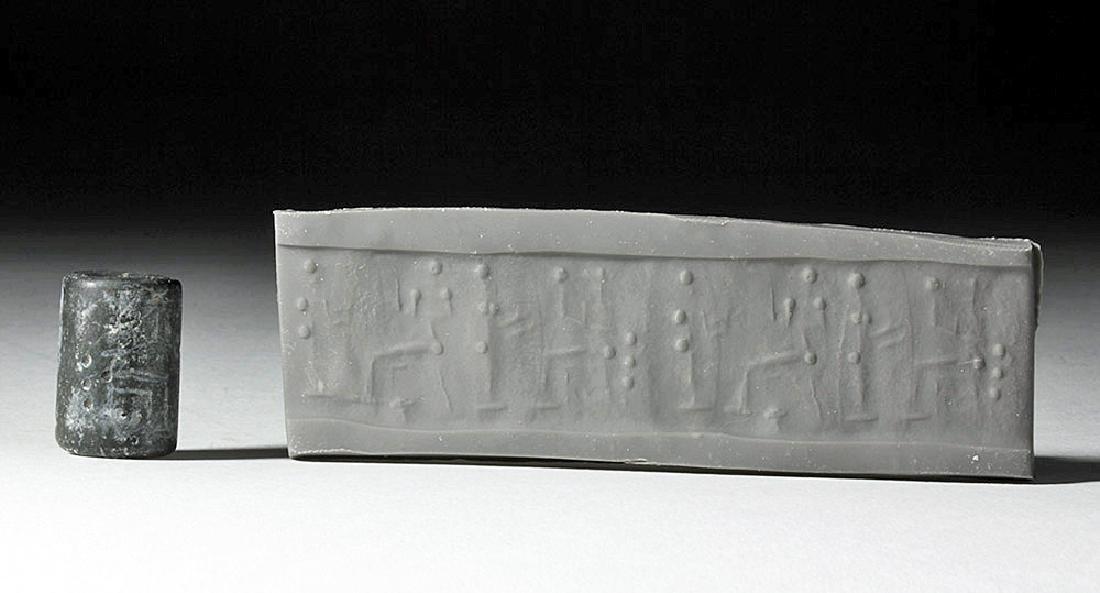 Mesopotamian Cylinder Seal, ex-Christie's, Royal Athena