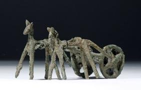 Amlash Bronze Chariot Grouping w/ Two Horses