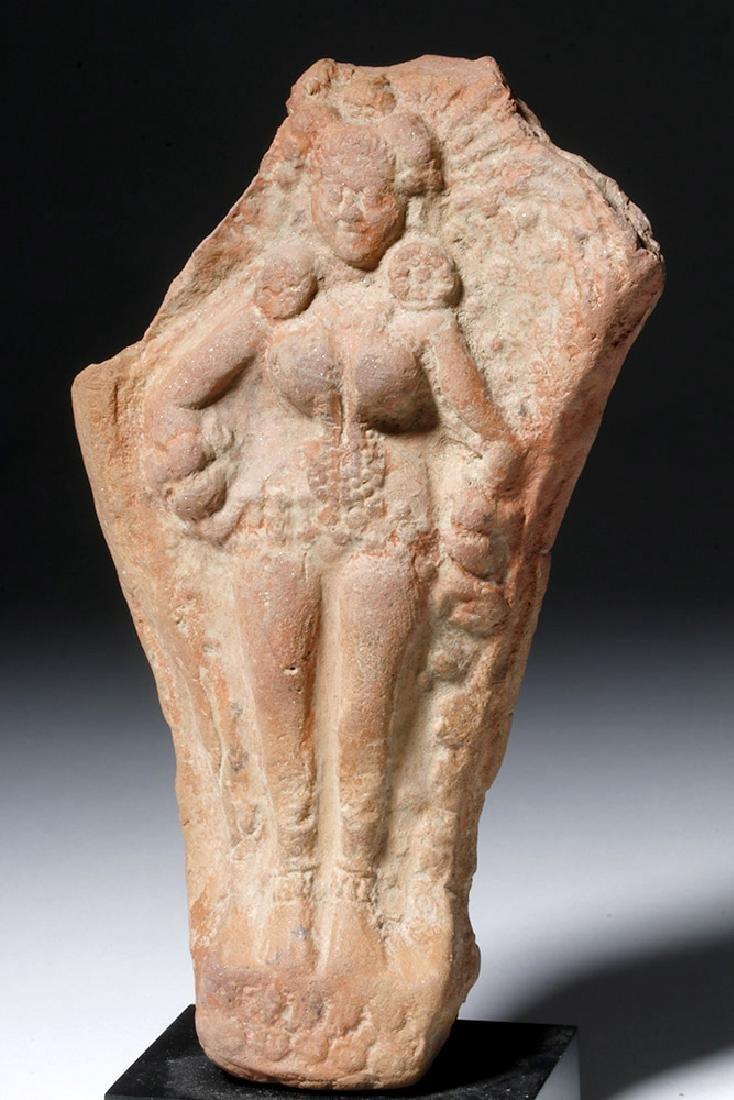 Ancient Indian Terracotta Yakshi Votive Plaque