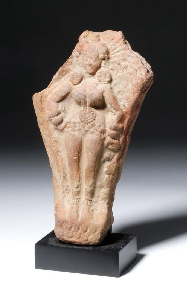 Ancient Indian Terracotta Yakshi Votive Plaque - 2