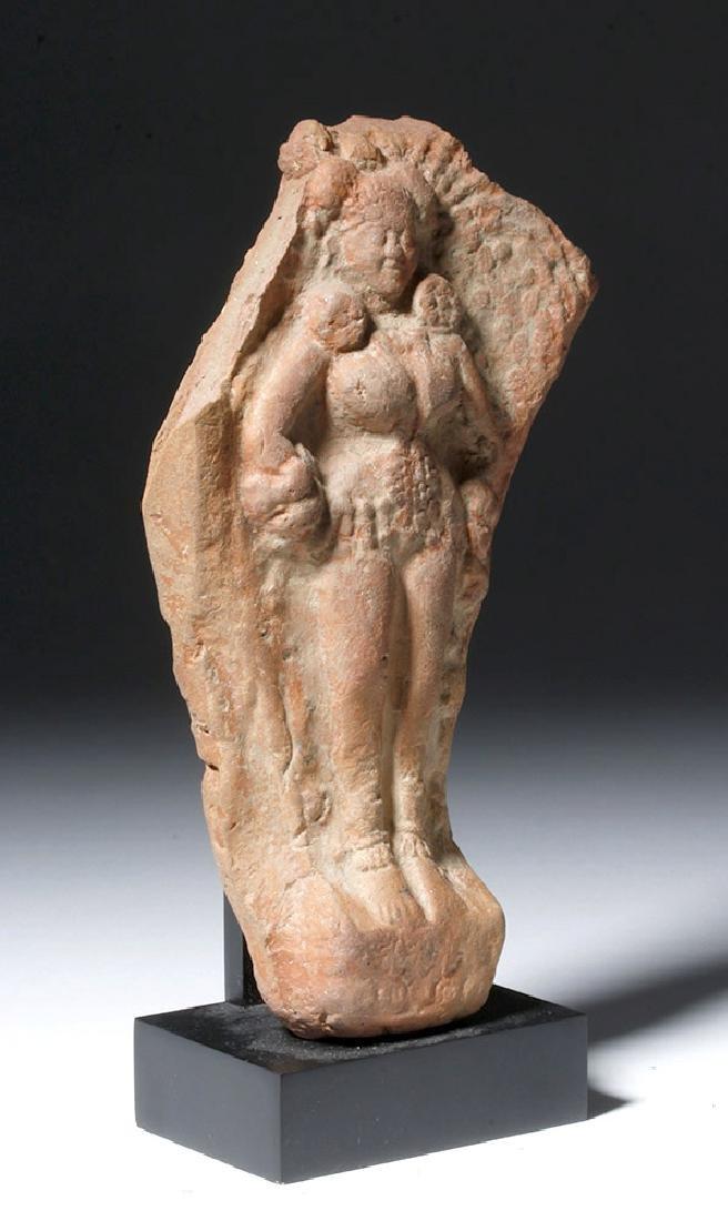 Ancient Indian Terracotta Yakshi Votive Plaque - 4