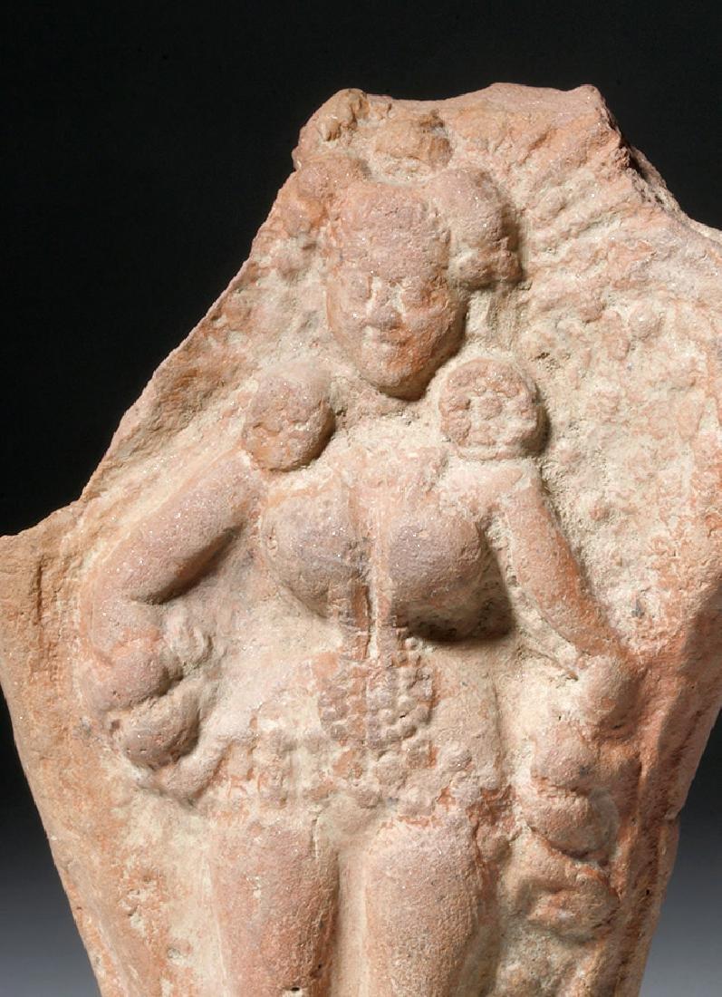 Ancient Indian Terracotta Yakshi Votive Plaque - 5