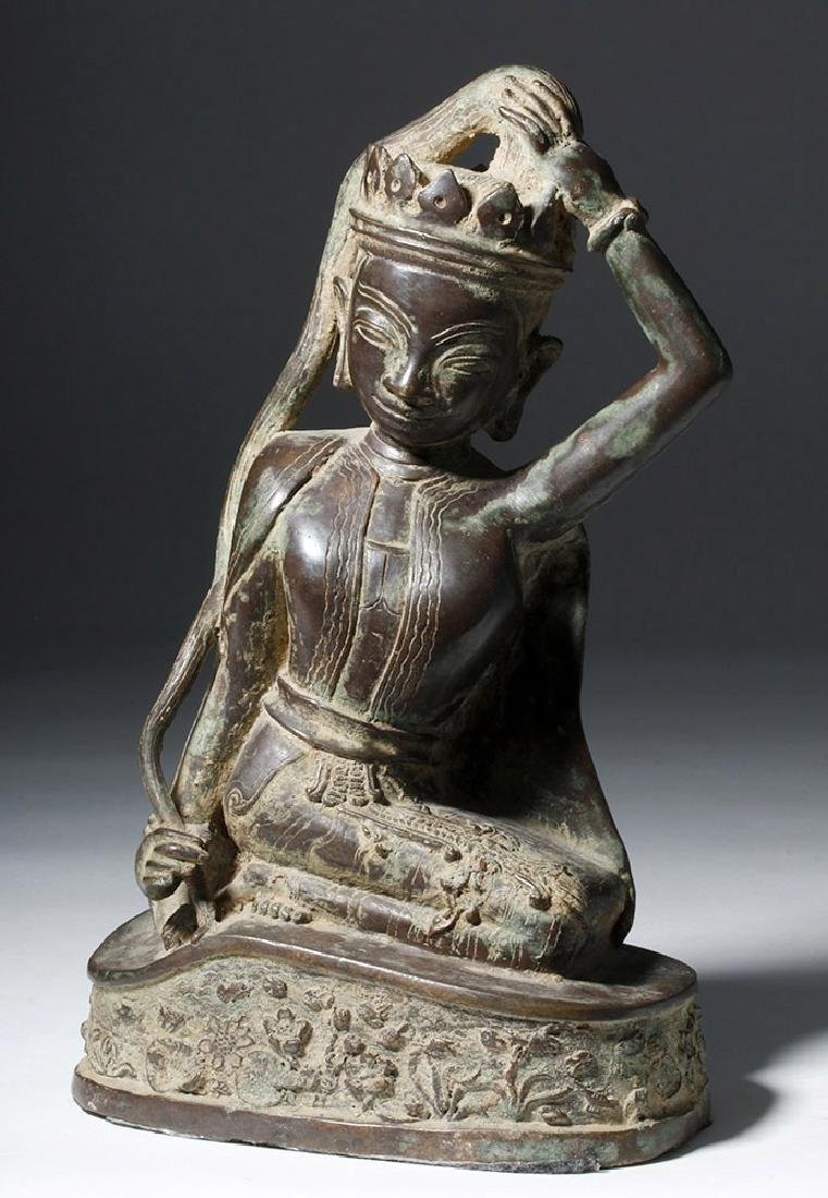 Early 20th C. Thai Bronze Statue - Goddess Thorani