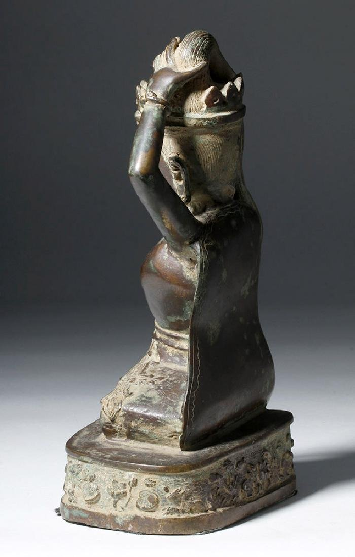 Early 20th C. Thai Bronze Statue - Goddess Thorani - 2