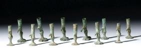 Chinese Han Dynasty Bronze Parasol Fittings (12)