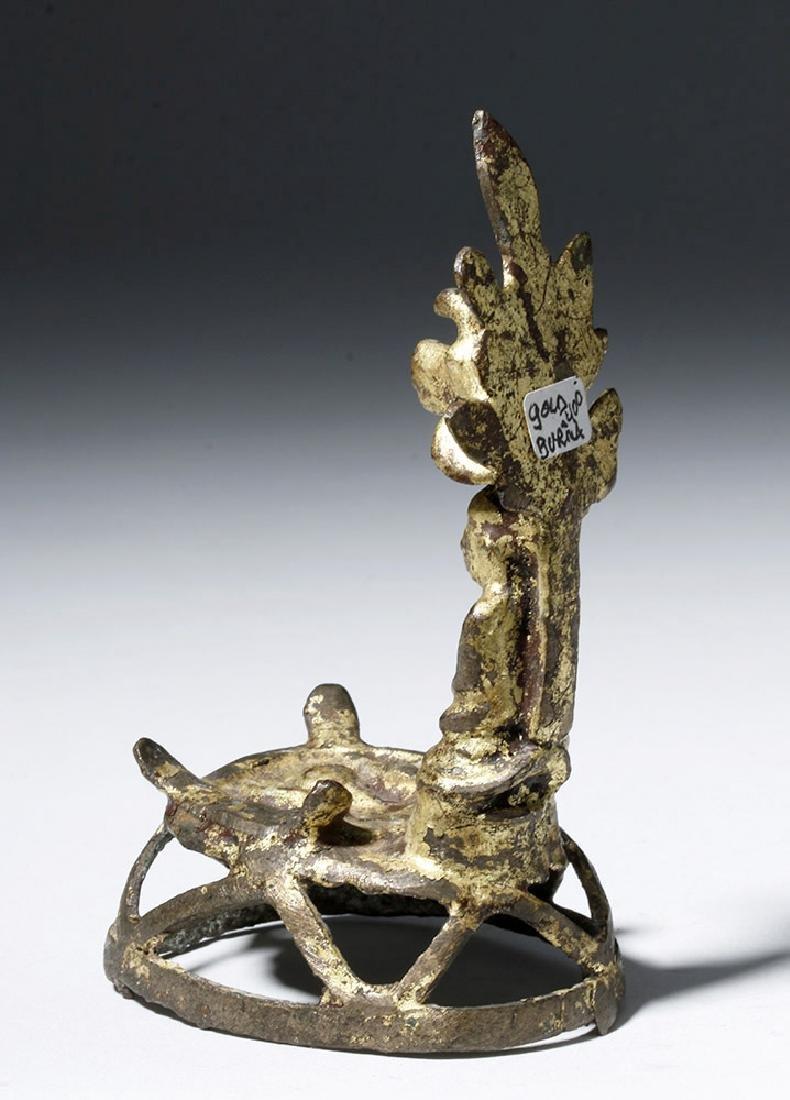 18th C. Burmese Gilded Bronze Buddha / Shrine - 2