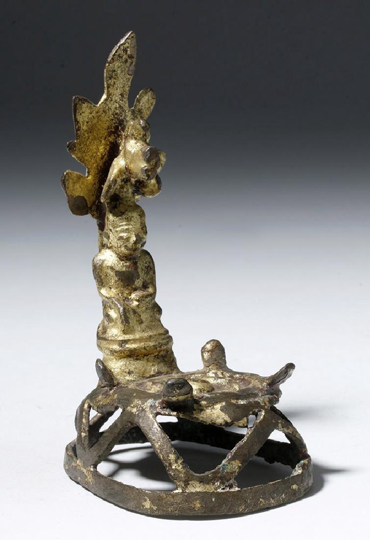 18th C. Burmese Gilded Bronze Buddha / Shrine - 4