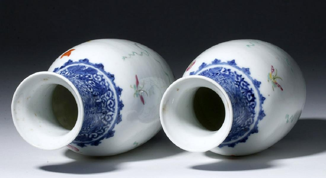 19th C. Chinese Qing Dynasty Vases - Famille Rose (pr) - 5