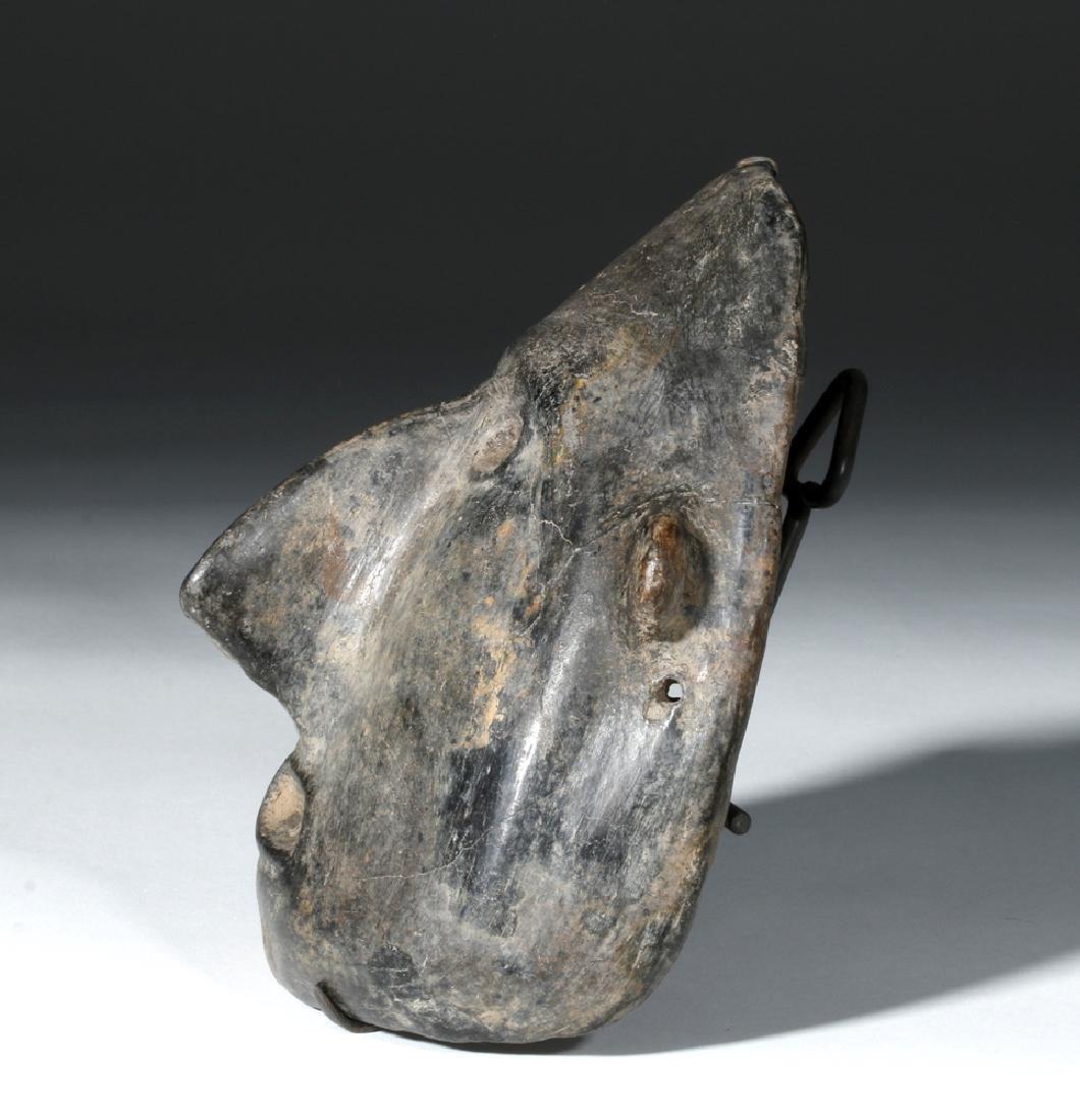 Colima Blackware Mummy Mask Vessel - 2