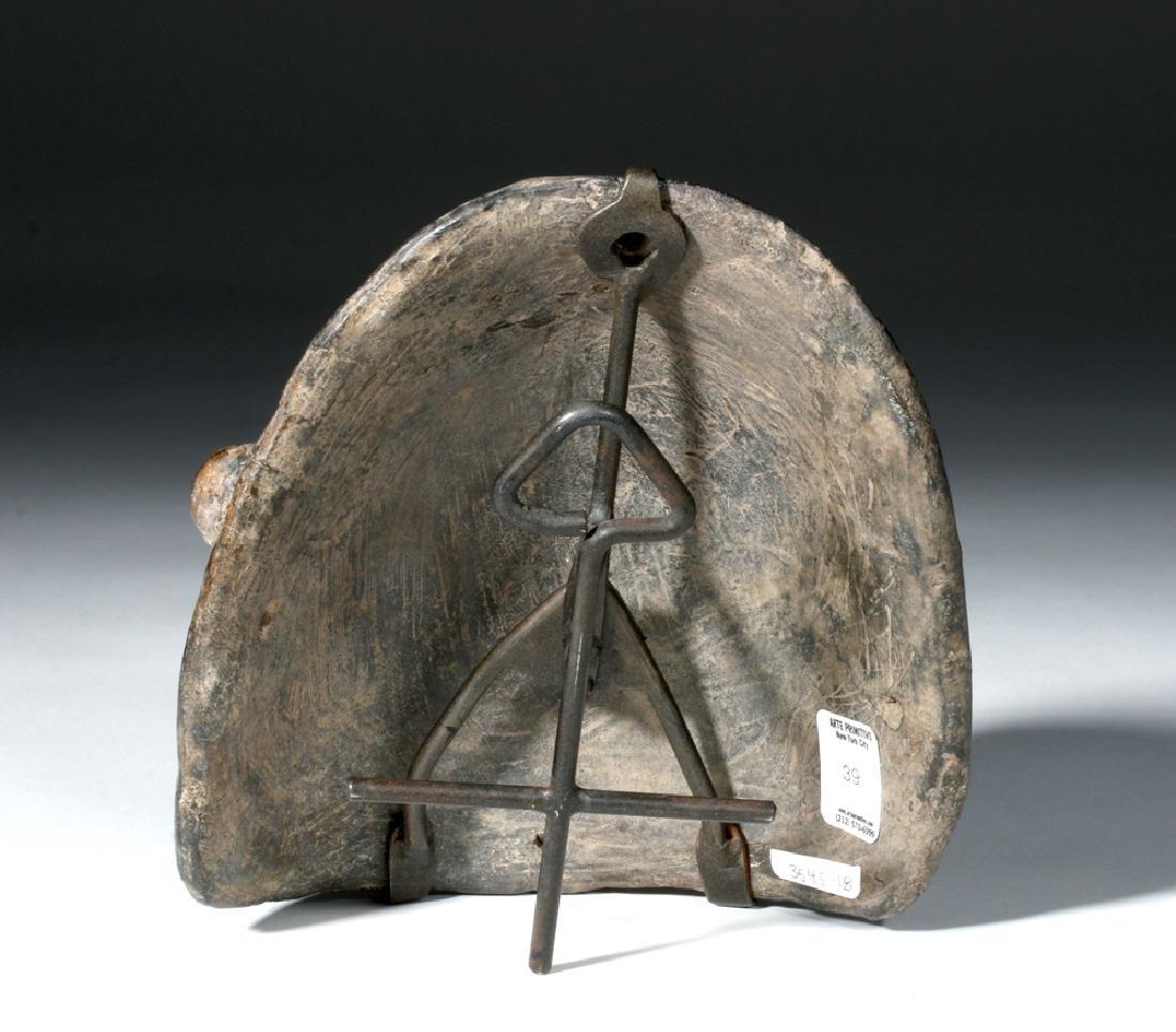 Colima Blackware Mummy Mask Vessel - 3