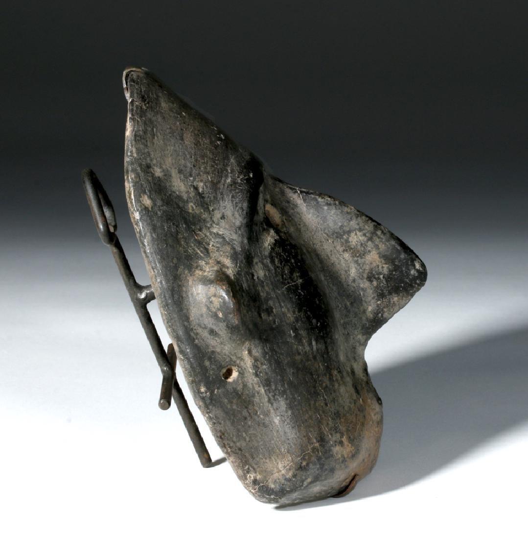 Colima Blackware Mummy Mask Vessel - 4