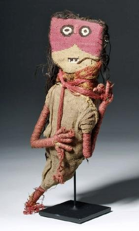 Rare Chancay Textile Doll - Authentic!