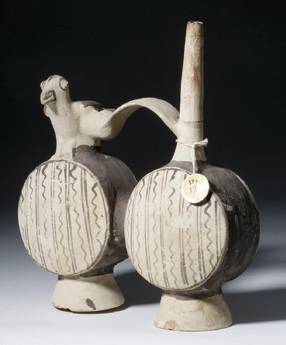 Chancay Pottery Whistling Stirrup Jar, ex-Sothebys