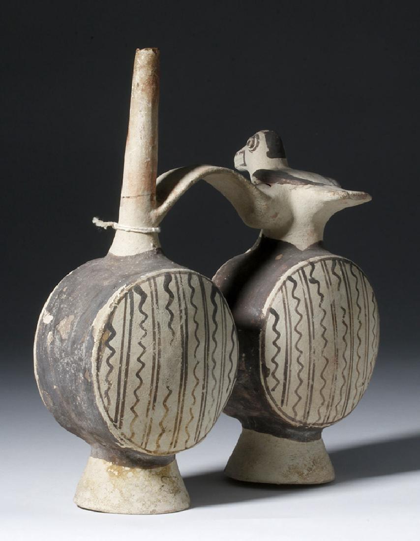 Chancay Pottery Whistling Stirrup Jar, ex-Sothebys - 2