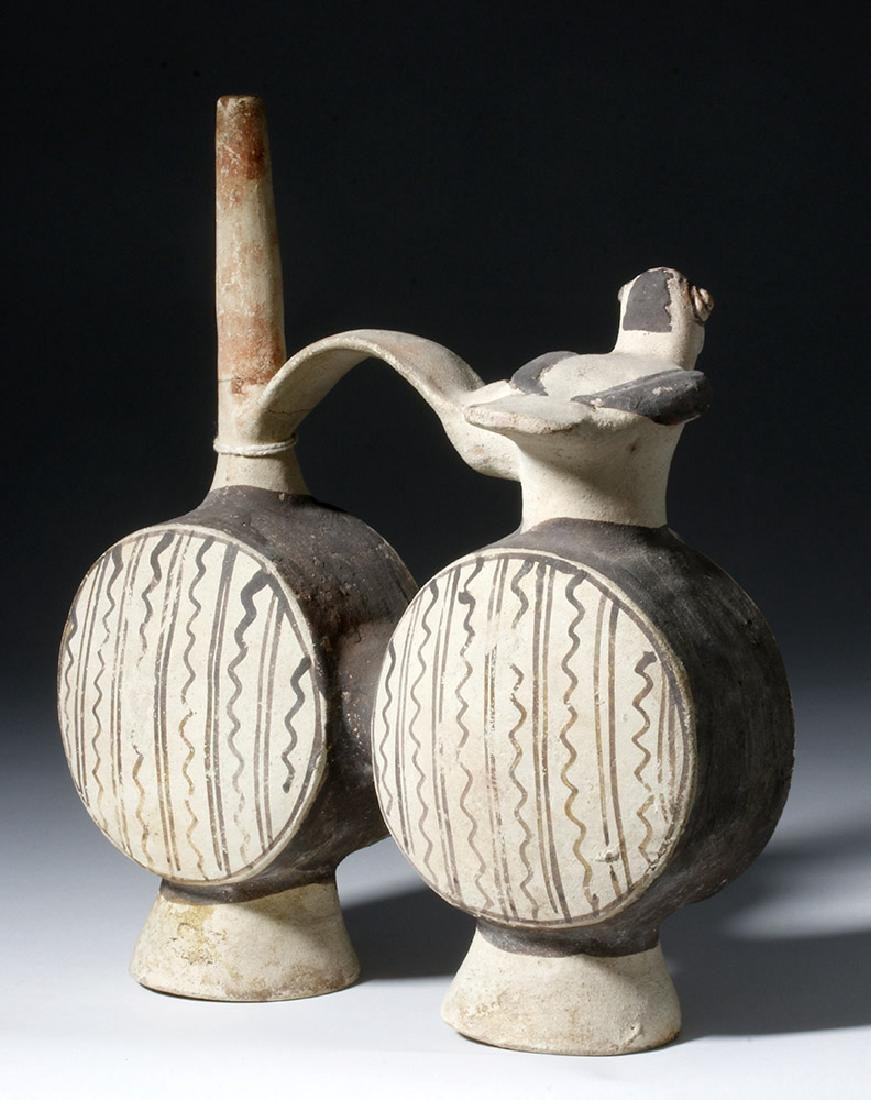 Chancay Pottery Whistling Stirrup Jar, ex-Sothebys - 3