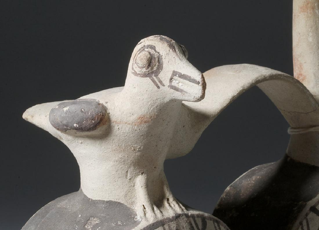Chancay Pottery Whistling Stirrup Jar, ex-Sothebys - 5