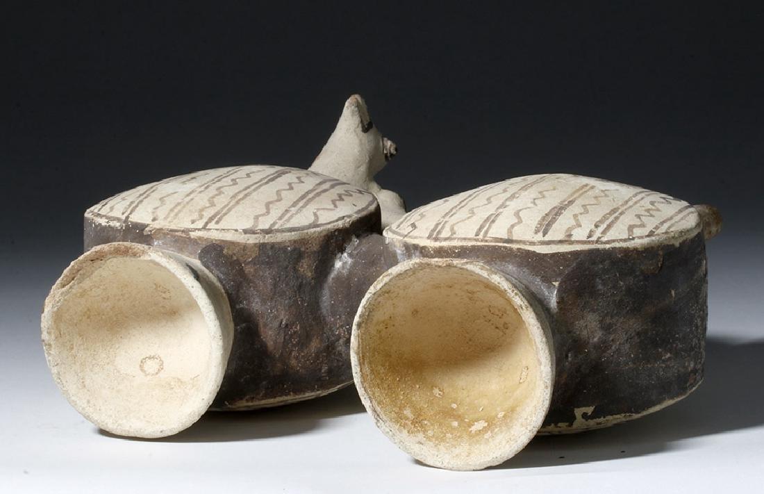 Chancay Pottery Whistling Stirrup Jar, ex-Sothebys - 7