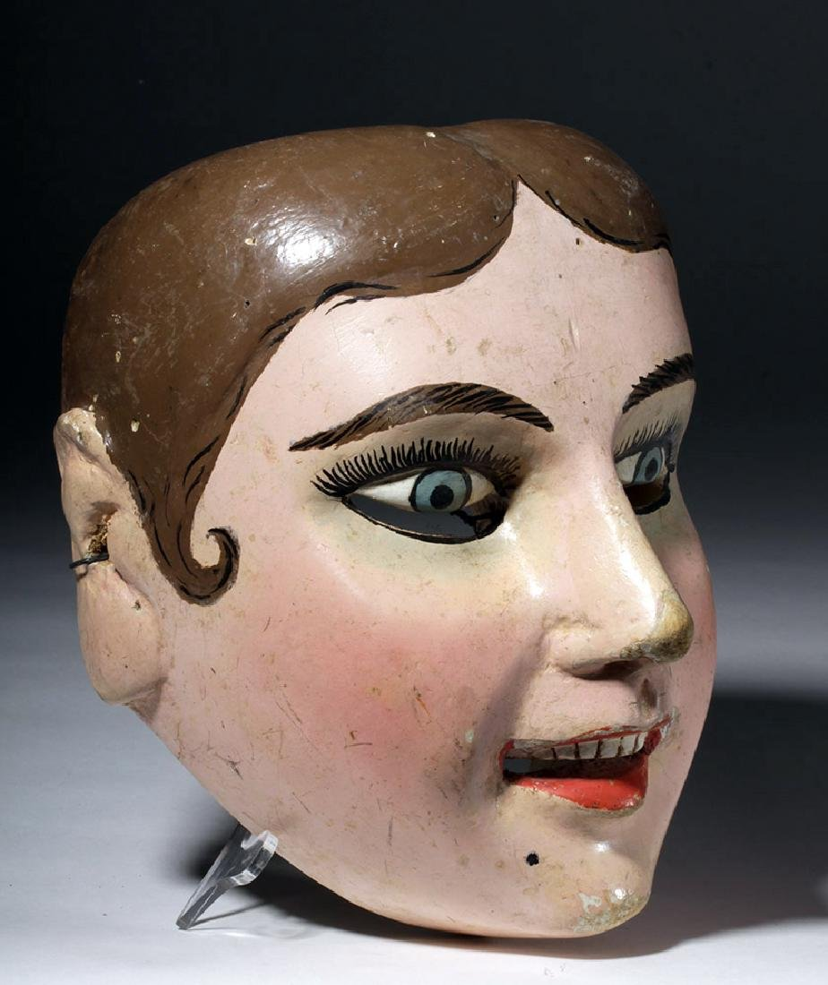 20th C. Guatemalan Painted Wood Festival Mask - 3