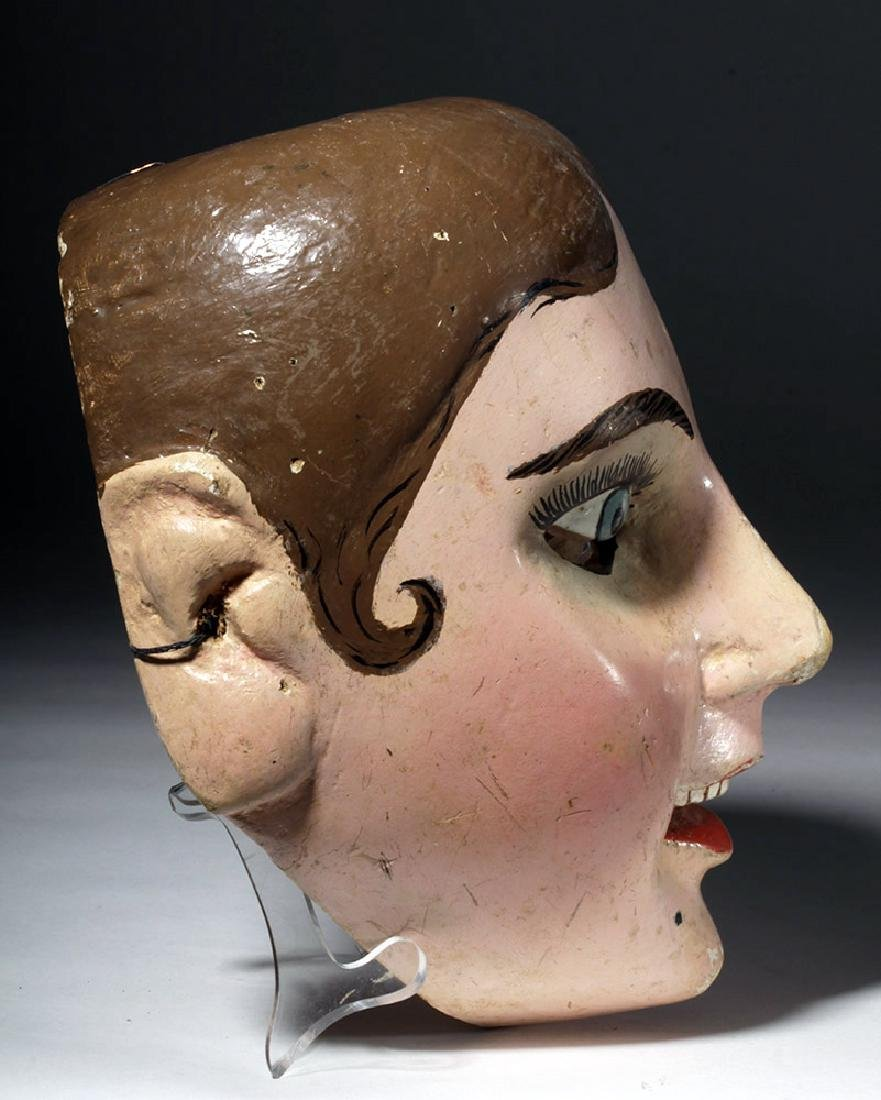 20th C. Guatemalan Painted Wood Festival Mask - 4