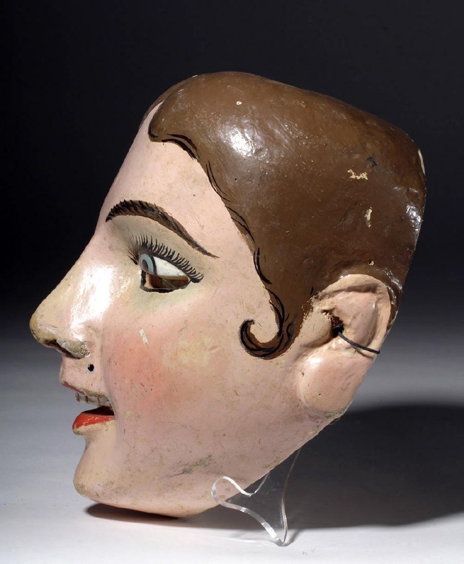 20th C. Guatemalan Painted Wood Festival Mask - 5