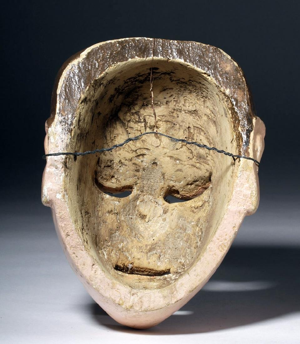 20th C. Guatemalan Painted Wood Festival Mask - 6