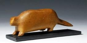 20th C. Native American Wood Beaver, ex-Christie's