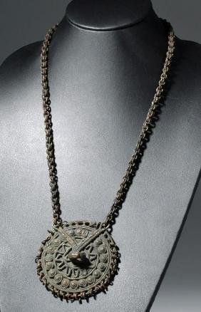 19th C. African Benin Copper Elite Necklace