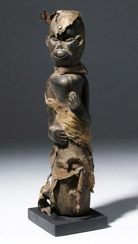 19th C. African Wood Fetish Figure - Pray for Healing