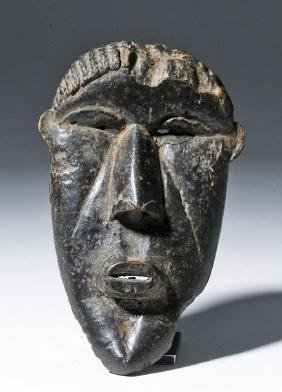 20th C. African Bassa Carved Wood Gela Mask