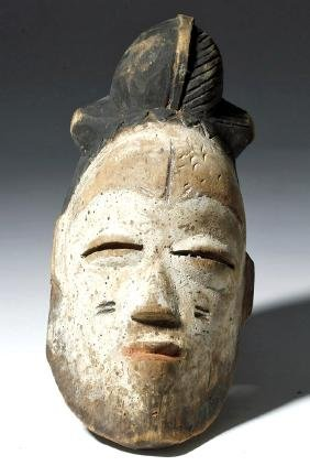 20th C. African Igbo Painted Wood Mask