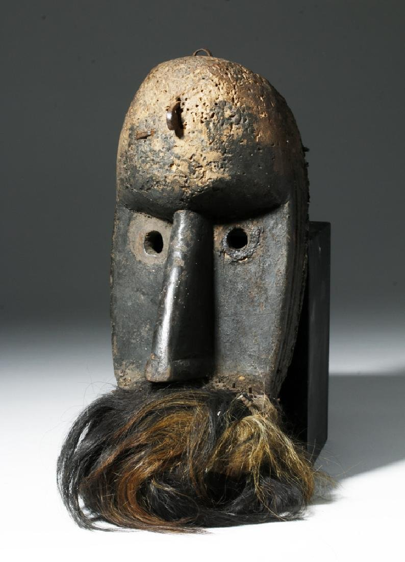 Early 20th C. African Loma Wood Landai Mask - Hair
