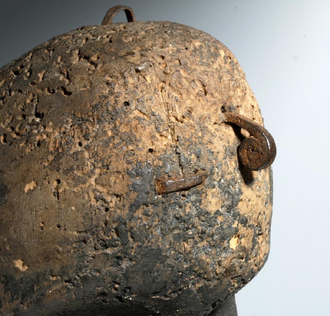 Early 20th C. African Loma Wood Landai Mask - Hair - 3