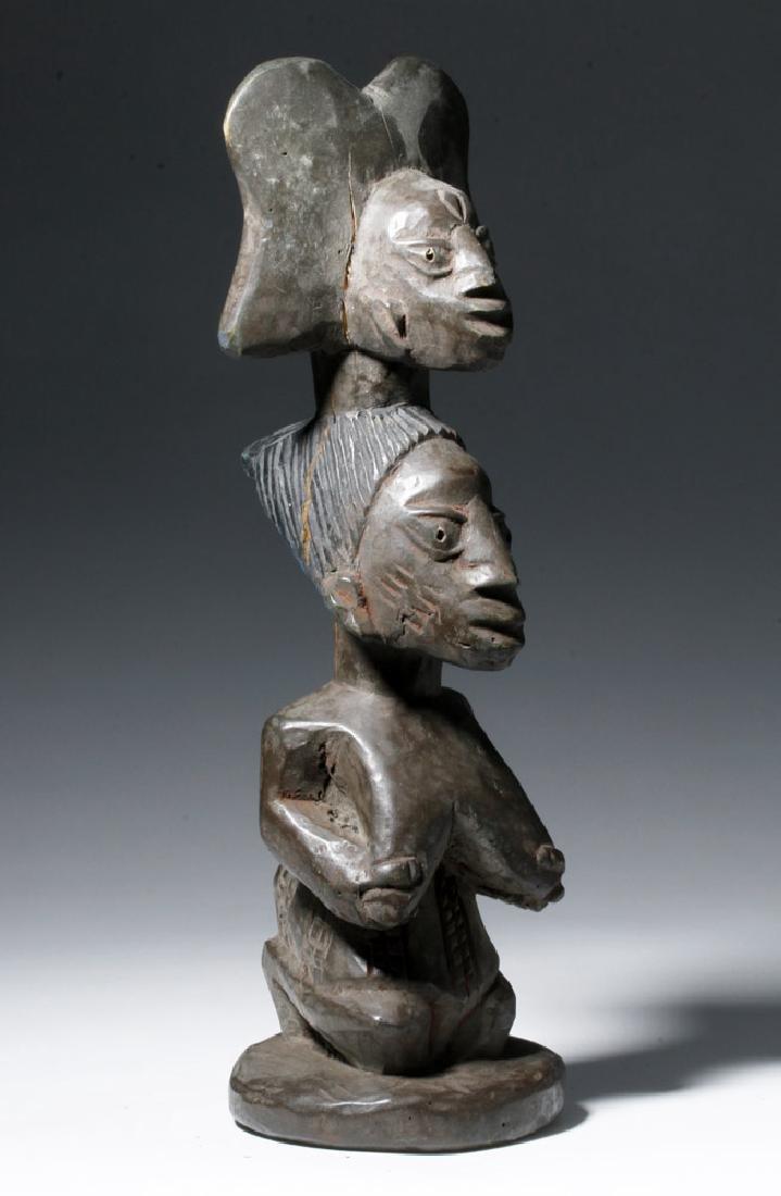 20th C. African Yoruba Wood Shango Cult Figure - Orisha