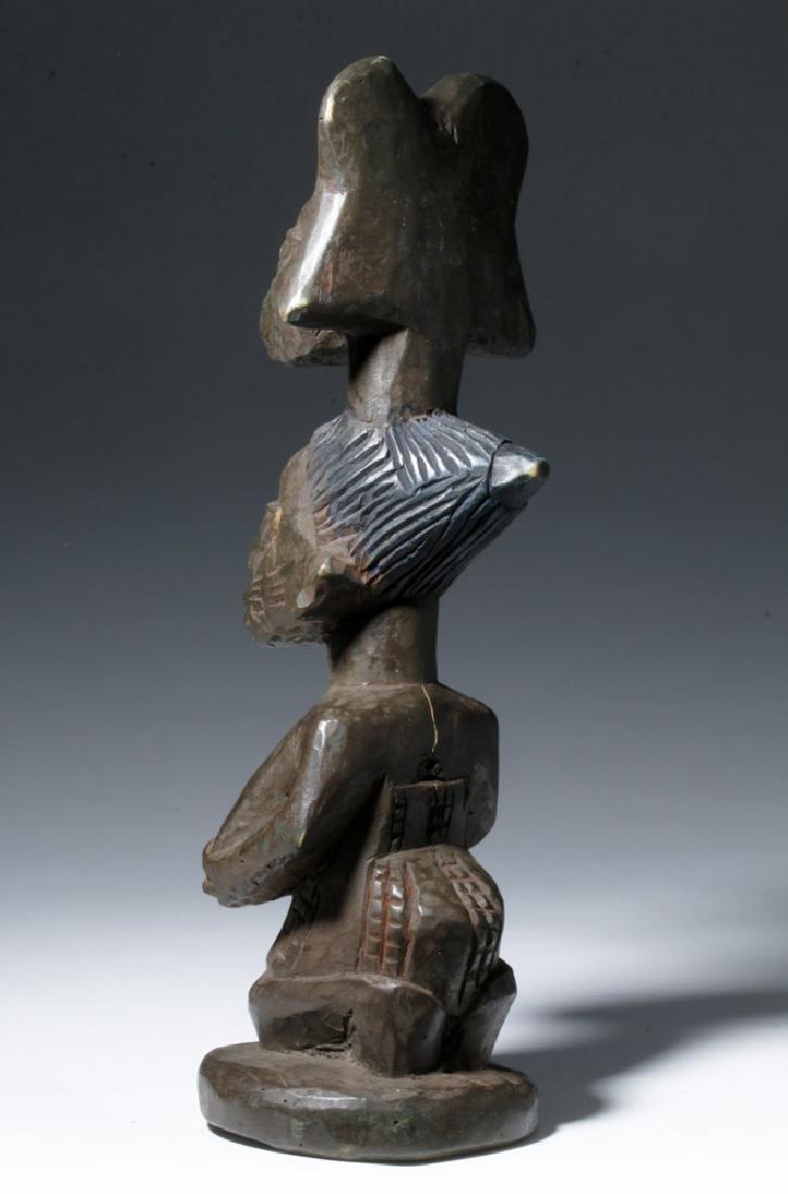 20th C. African Yoruba Wood Shango Cult Figure - Orisha - 2