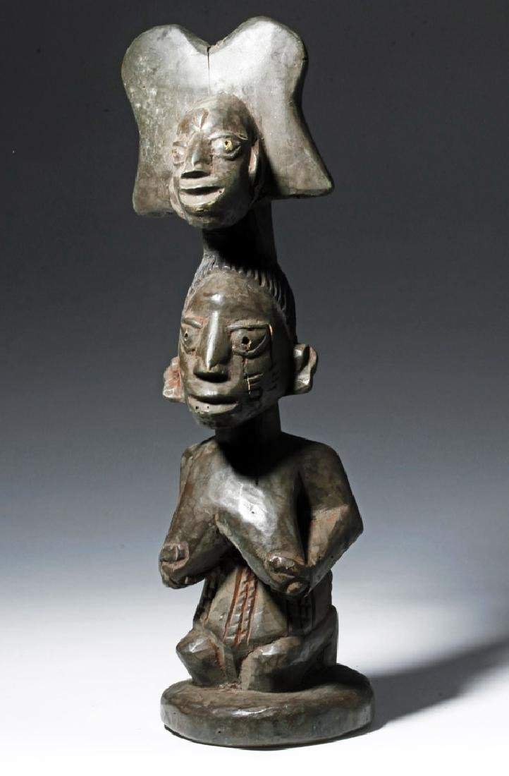 20th C. African Yoruba Wood Shango Cult Figure - Orisha - 4
