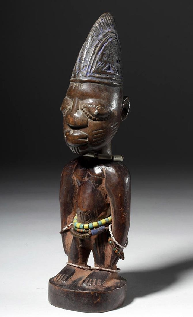 Early 20th C. African Ibeji Male Twin Wood Figure