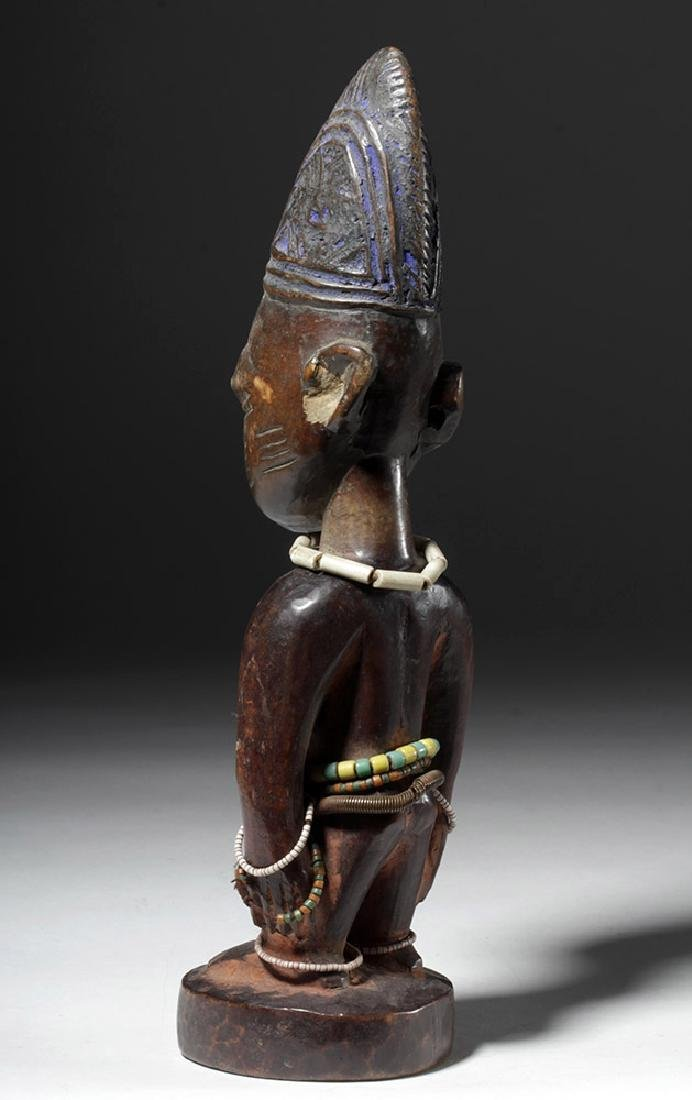 Early 20th C. African Ibeji Male Twin Wood Figure - 2