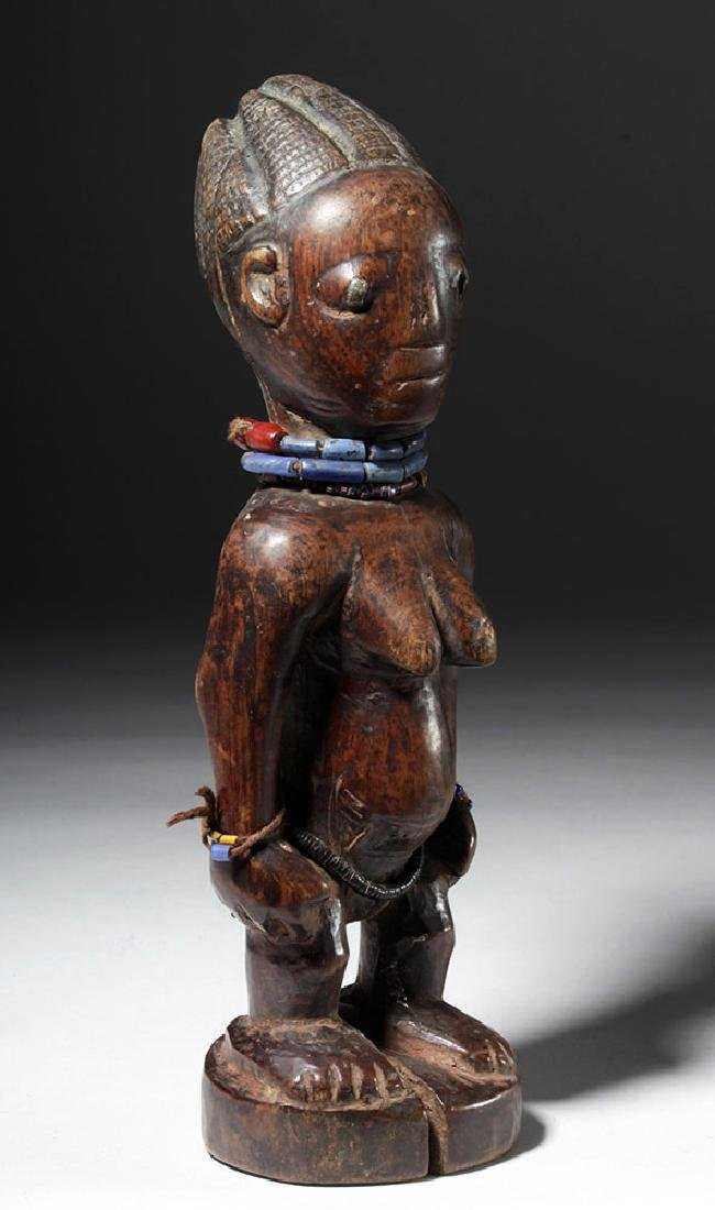 Superb African Carved Wooden Ibeji Female Twin