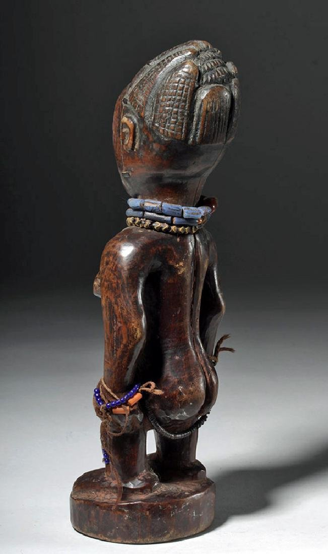 Superb African Carved Wooden Ibeji Female Twin - 2
