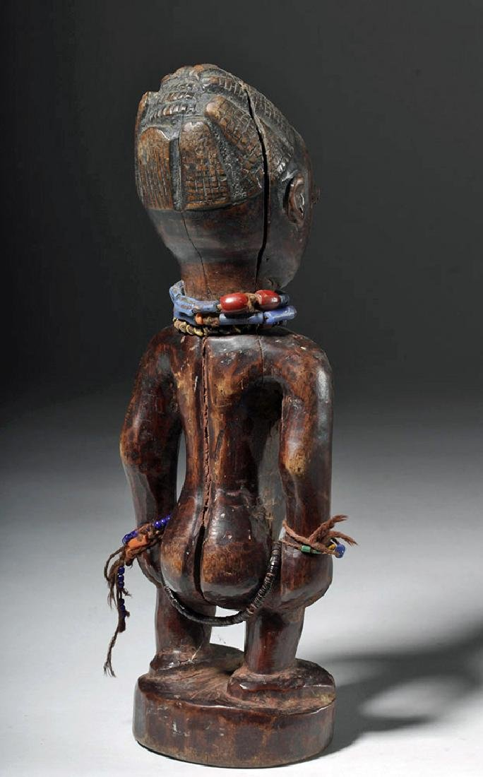 Superb African Carved Wooden Ibeji Female Twin - 3