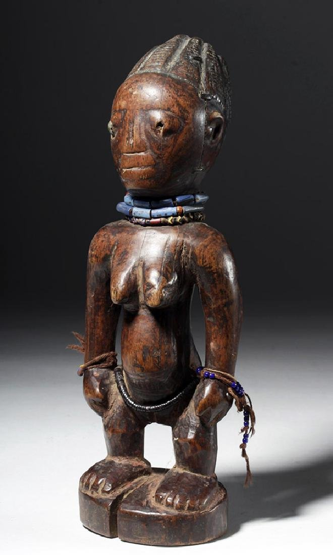 Superb African Carved Wooden Ibeji Female Twin - 4
