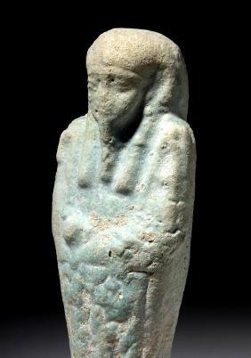 Ancient Egyptian 26th Dynasty Faience Ushabti
