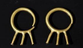 Pr. Roman 22K+ Gold Earrings - Unusual Design