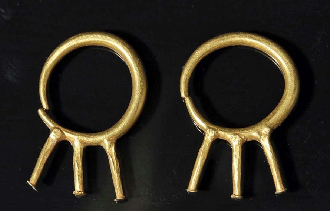 Pr. Roman 22K+ Gold Earrings - Unusual Design - 2